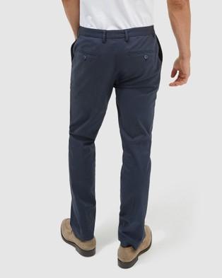 SABA Mateo Cotton Suit Pants - Pants (Navy)