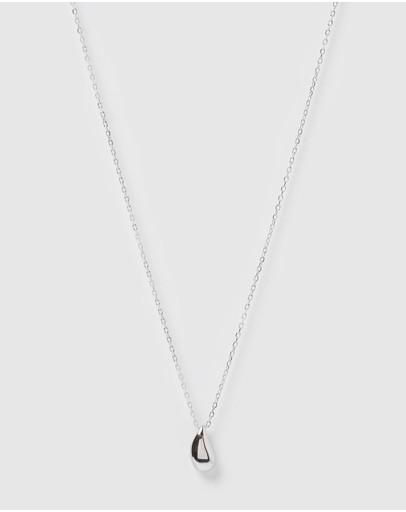 Izoa Rain Drop Necklace Silver