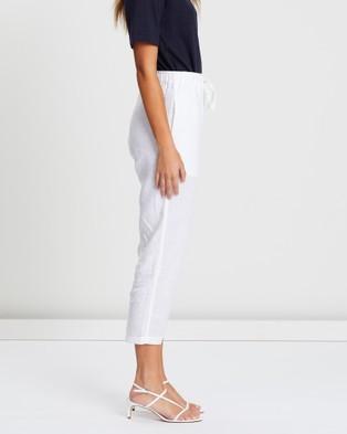 White By FTL Abigail Pants - Pants (White)
