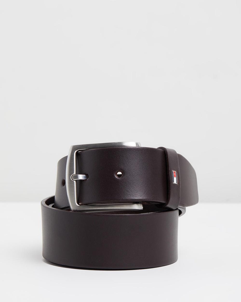 Tommy Hilfiger New Denton Belt 4.0 Belts Dark Brown