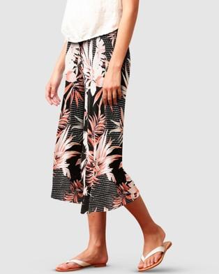 SACHA DRAKE Cylinder Beach Culotte - Pants (Peach Palm)