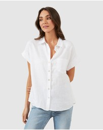 French Connection - Relaxed Linen S/S Shirt