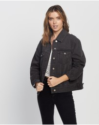 Missguided - Petite Oversized Denim Jacket