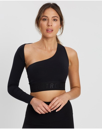 Contrology Active The One-sleeve Crop Black