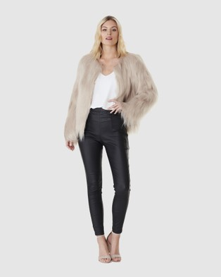 Everly Collective Marmont Faux Fur Jacket - Coats & Jackets (Latte)