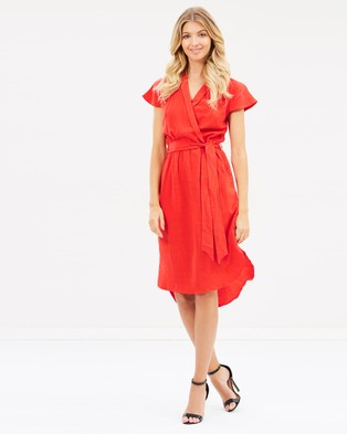Atmos & Here – Bonnie Wrap Dress Red