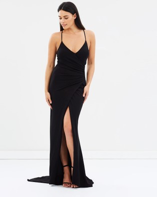 ROXCIIS – Cross Over Carley Dress Black