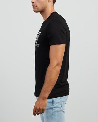 Emporio Armani EA7 - Embroidered Logo T Shirt T-Shirts & Singlets (Black) T-Shirt
