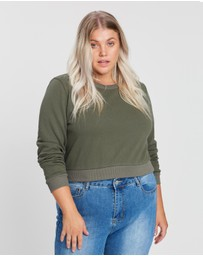 Atmos&Here Curvy - Hayley Crop Sweat