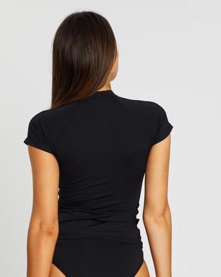 Sea Level Australia Short Sleeve Multifit Rash Vest - Swimwear (Black)