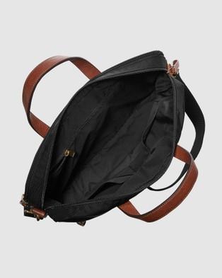 Fossil Haskell Black Shoulder Bag MBG9538001 - Bags (Black)