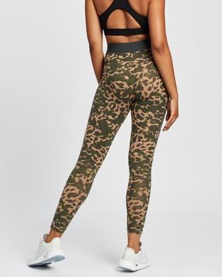 adidas Performance Sportswear Leopard Print Cotton Leggings - 7/8 Tights (Cardboard)