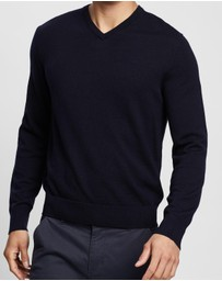 Calvin Klein - Slim Fit Merino Wool V-Neck Sweater
