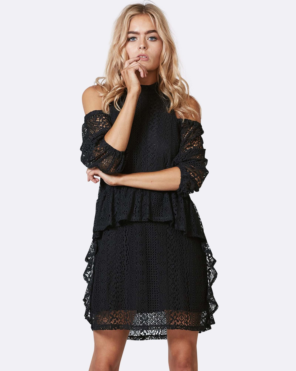 Three of Something - Before and After Dress Dresses (BLACK LACE)