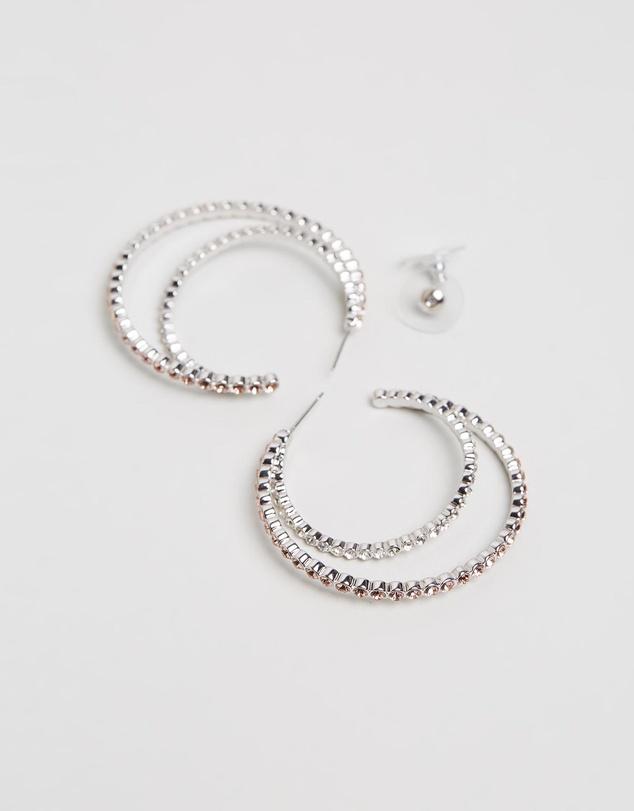 Women Peony Hoop Earrings