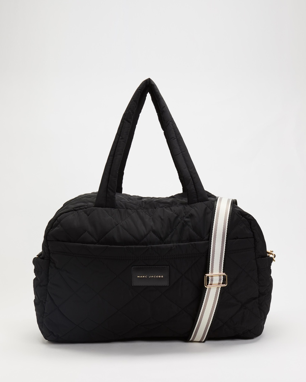 The Marc Jacobs E Quilted Nylon Large Weekender Bag Duffle Bags Black E-Quilted