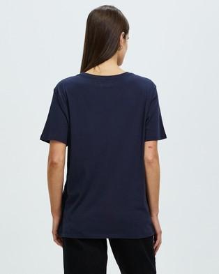 Assembly Label Logo Cotton Crew Tee - T-Shirts & Singlets (True Navy)