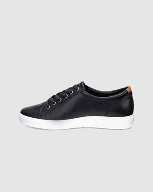 ECCO Soft 7 Women's Sneakers - Lifestyle Sneakers (Black)
