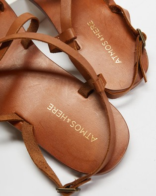 Atmos&Here Rita Leather Sandals - Sandals (Tan Leather)