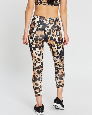 AVE Activewoman Animal Print Leggings - 7/8 Tights (Leopard)