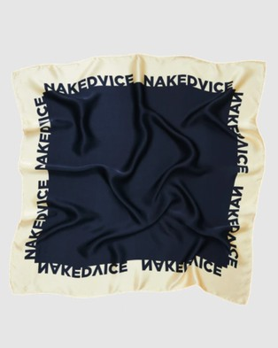 Nakedvice The NV Silk Scarf - Hair Accessories (Ivory)