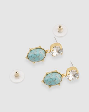 Peter Lang Aura - Jewellery (Turquoise, Crystal & Gold)