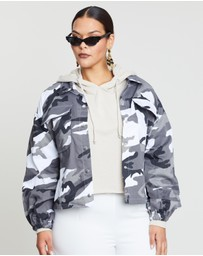 Missguided Curve - Camo Jacket
