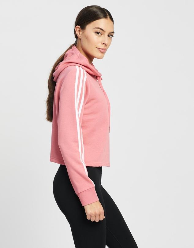Women Essentials 3-Stripes Cropped Hoodie
