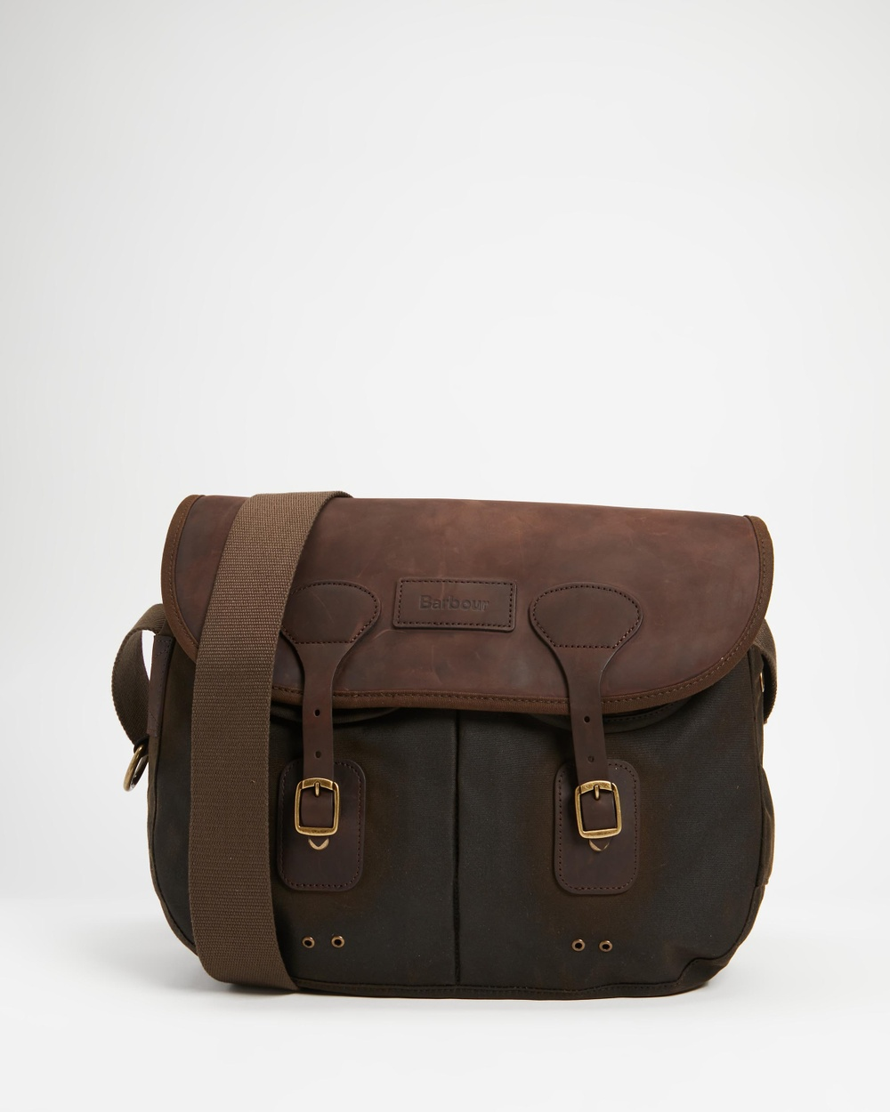 Barbour Wax Leather Tarras Bags Olive