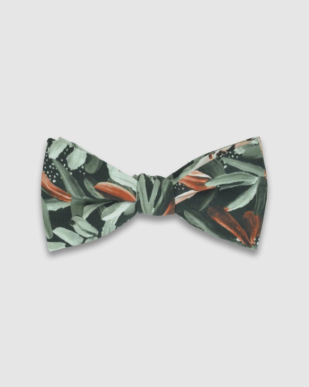 Peggy and Finn Protea Bow Tie Ties & Cufflinks Green Australia