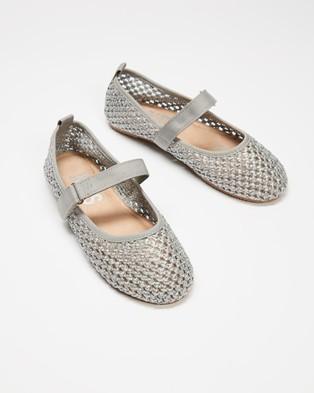 Cotton On Kids Primo Ballet Flats   Kids - Ballet Flats (Winter Grey Woven)