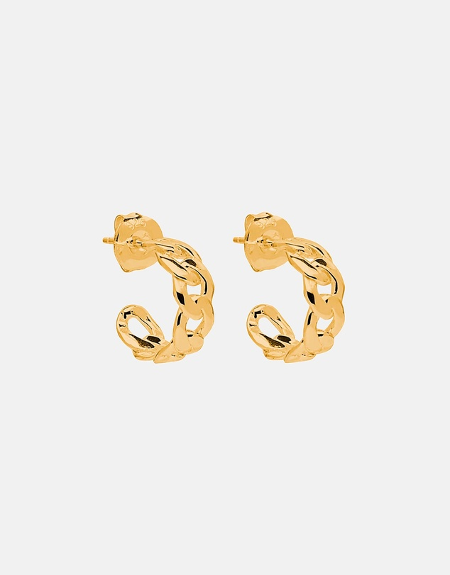 Women Curb Small Hoop Earrings