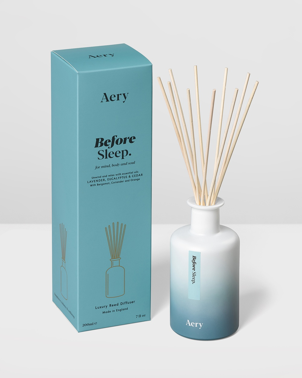 Aery Living Aromatherapy 200ml Reed Diffuser Diffusers Blue