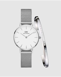 Daniel Wellington - Gift Set - Petite Sterling 28mm + Classic Bracelet Small
