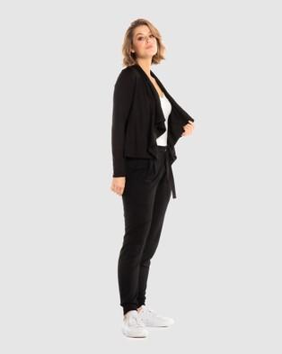 Deshabille Wanderlust Travel Wrap in Bag - Jumpers & Cardigans (Black)