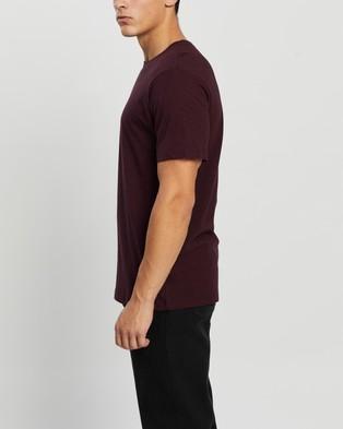 Mr Simple - Reginald Tee - T-Shirts & Singlets (Burgundy Marle) Reginald Tee