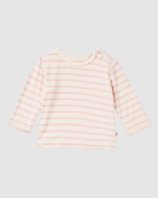 Boody Organic Bamboo Eco Wear 3 Pack Baby Long Sleeve Tops - All gift sets (Chalk/Rose/Rose Stripe)