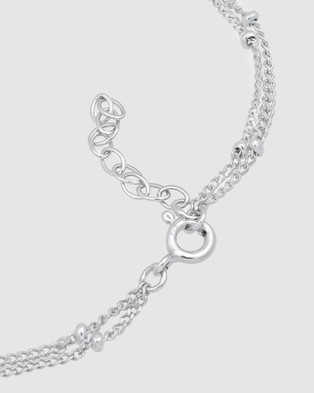 Elli Jewelry Bracelet Layer Ball Chain Basic Trend in 925 Sterling Silver - Jewellery (Silver)