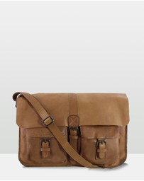 Cobb & Co - Renmark Leather Laptop Satchel