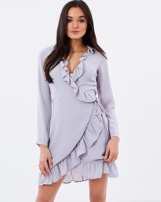 Lioness – Tuscan Fling Ruffle Dress Grey
