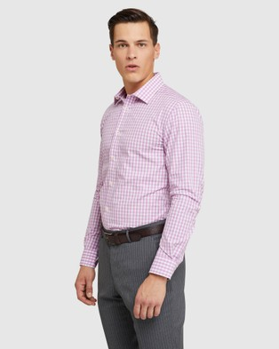 Oxford Beckton Checked Shirt - Shirts & Polos (Pink)