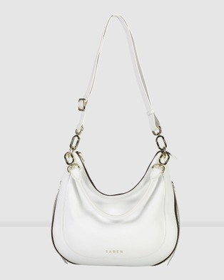 Saben Lulu Leather Tote Handbag - Handbags (White)