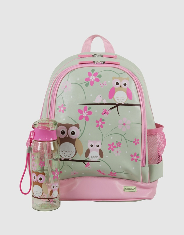 Bobbleart - Large Backpack and Drink Bottle Pack Owl