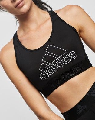adidas Performance Don't Rest Badge of Sport Bra - Crop Tops (Black & White)
