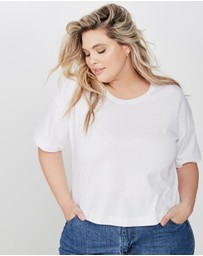 Cotton On - Curve Mid Sleeve Oversize Crop