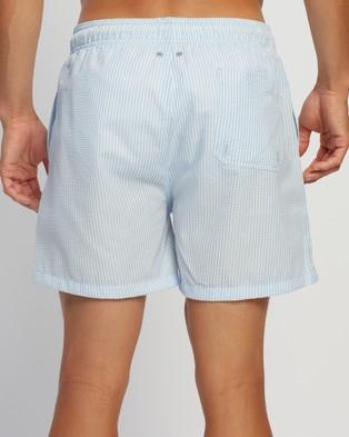 Gant Seersucker Swim Shorts - Swimwear (Capri Blue)
