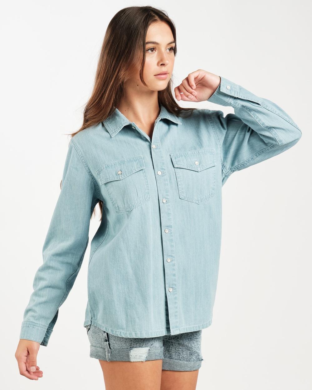 RES Denim Esme Shirt Shirts & Polos Blue