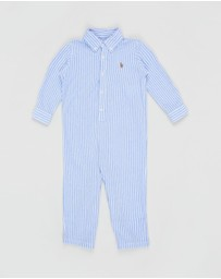 Polo Ralph Lauren - Stripe Kensington One-Piece Coverall - Babies