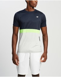 New Balance - Striped Accelerate Short Sleeve