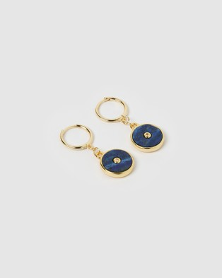 Arms Of Eve Cosmos Gold and Lapis Lazuli Earrings Jewellery Gold